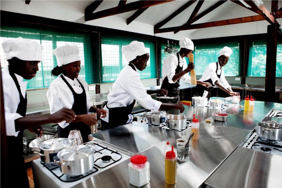 Masaai camp chefs