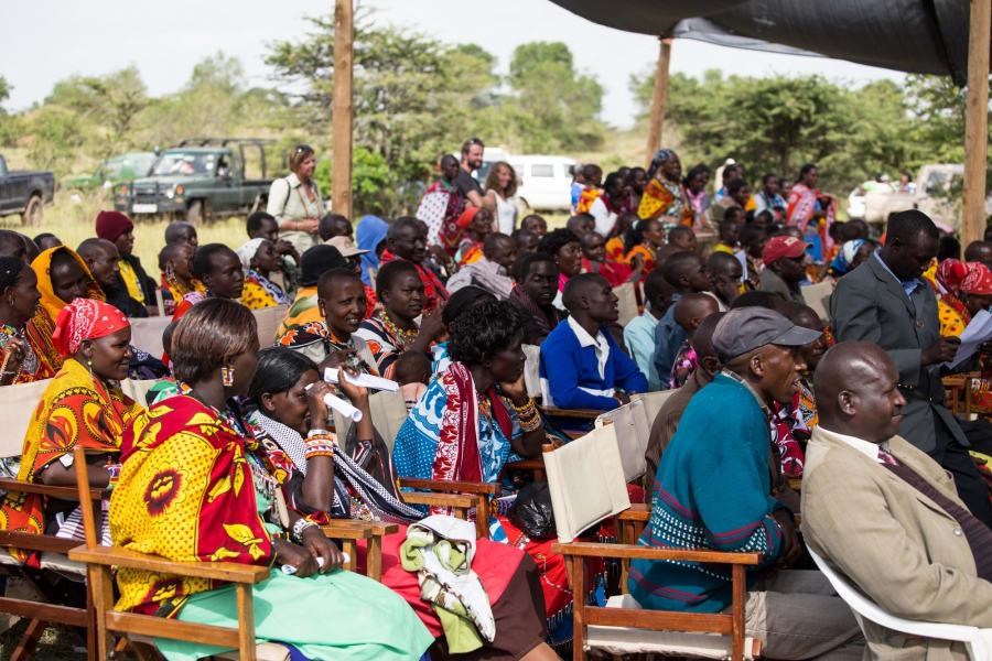 Maasai graduation seated