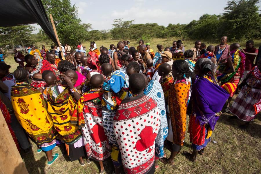 Maasai graduation crowd