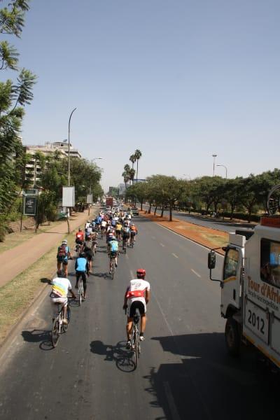 The Tour d'Afrique convoy into Nairobi - Photo by Catharina Robbertze