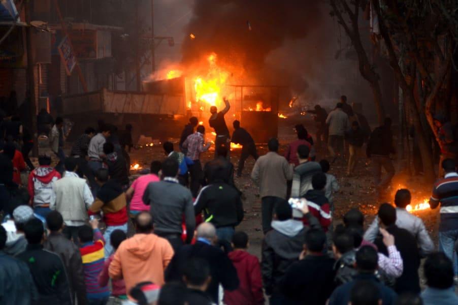 egypt unrest january 2014