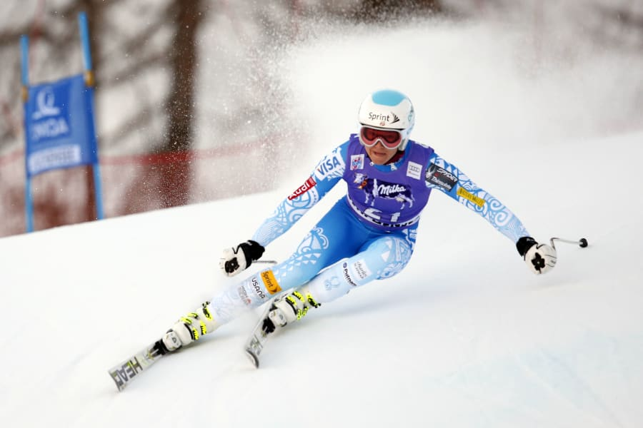 julia mancuso downhill action