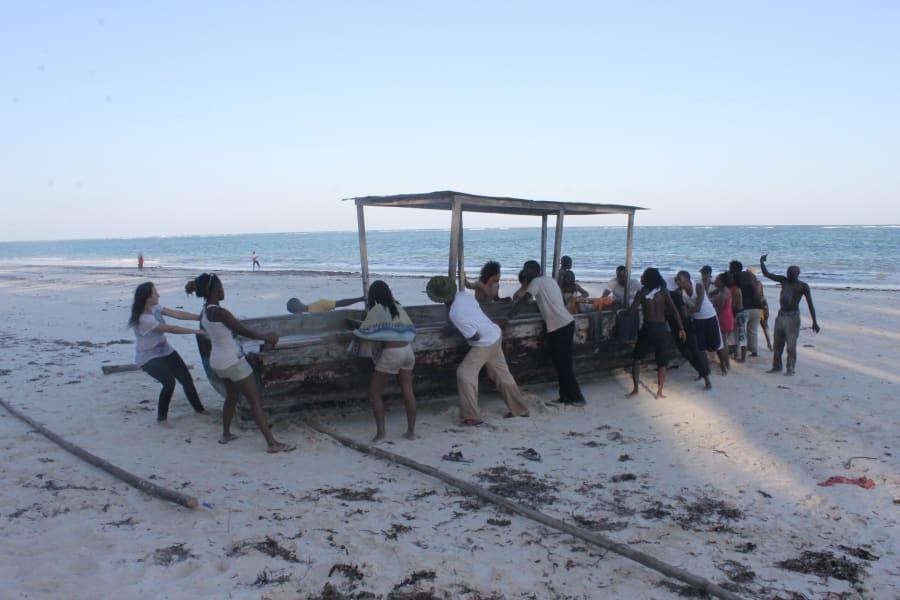 Usoni beach boat sea