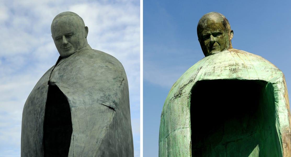 ugly monuments Pope John Paul II memorial