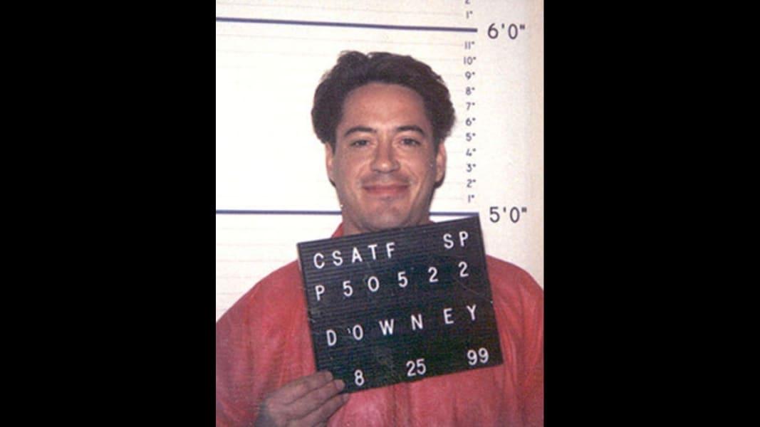 robert downey jr 1999 mugshot