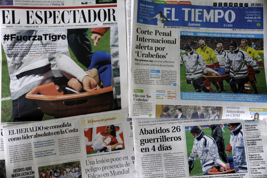 colombia newspapers falcao