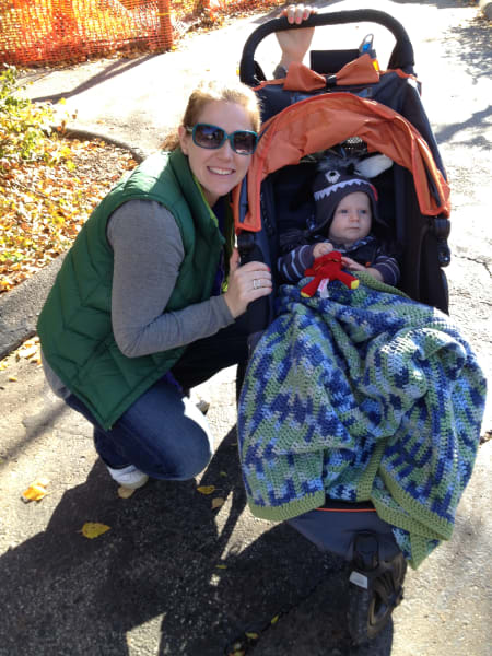 molly and baby stroller