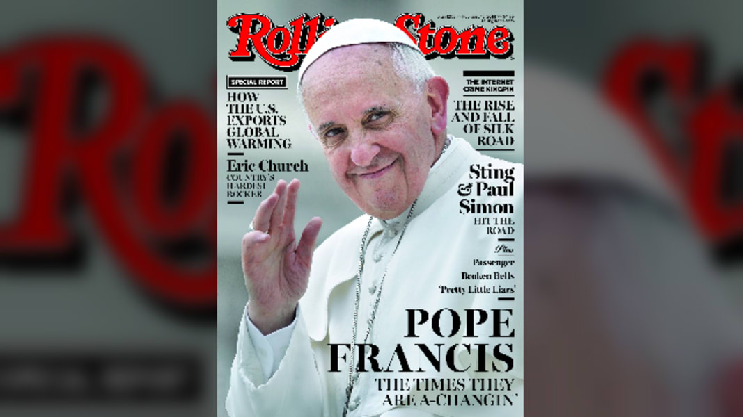 rolling stones pope francis cover