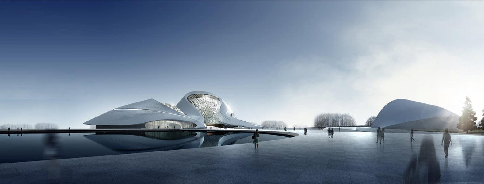 Buildings of 2014 Harbin Cultural Center