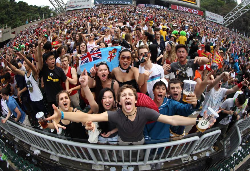 hong kong sevens fans
