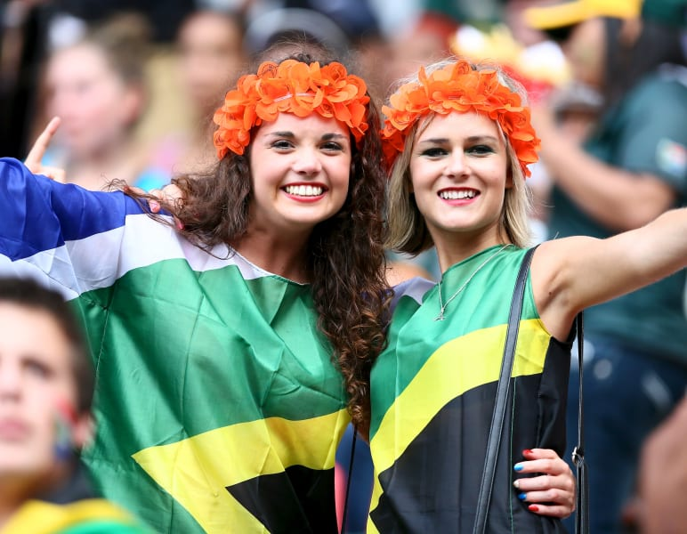 south african flag fans