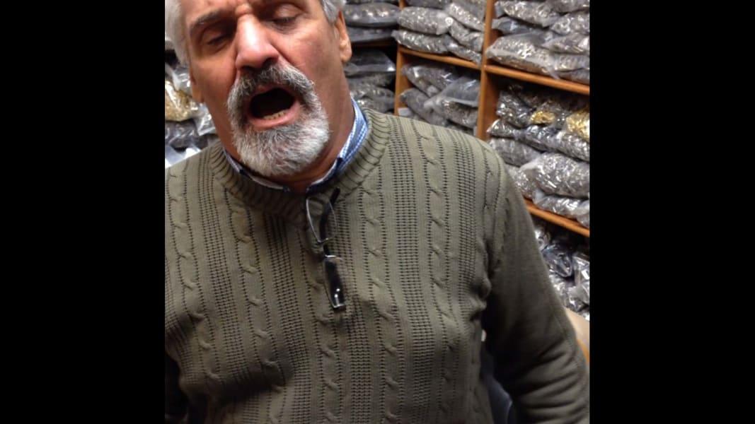 Tehran shopkeeper sings