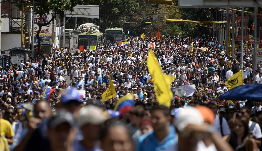 venezuela opposition demo caracas