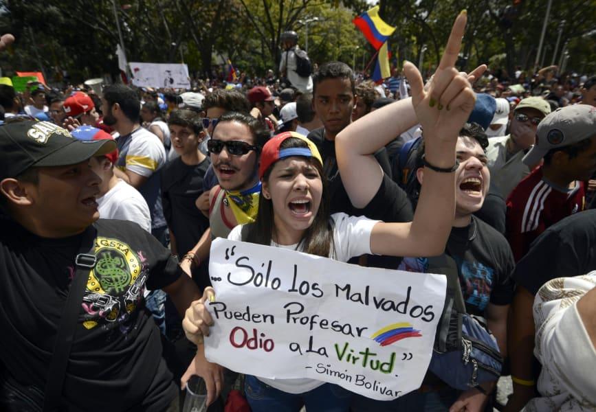 venezuela opposition protesters