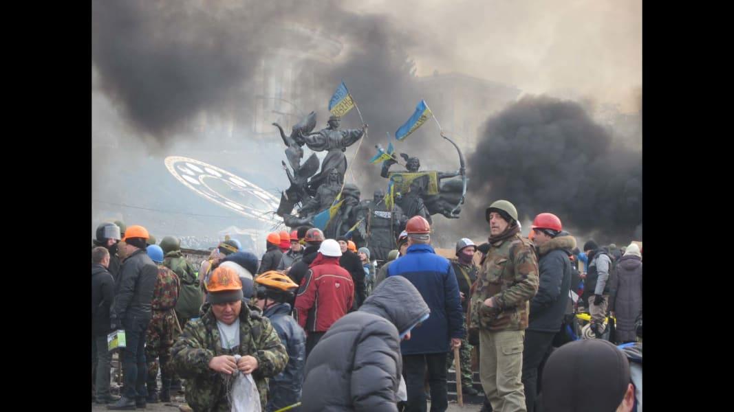 Kiev burning Scenes from the field