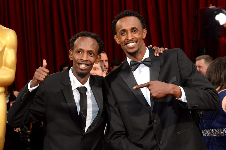 36 oscars red carpet - Barkhad Abdi and Faysal Ahmed