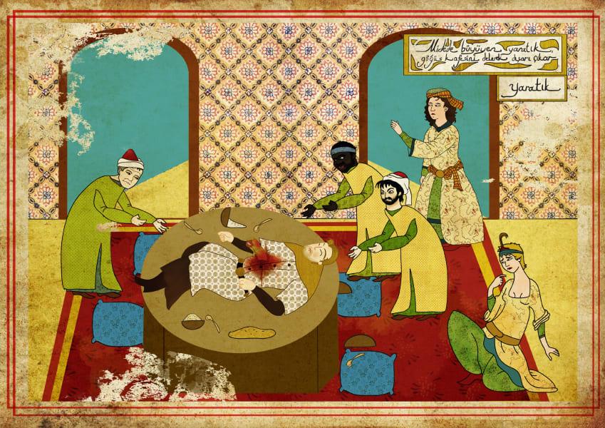 Murat Palta Ottoman art movie poster Alien