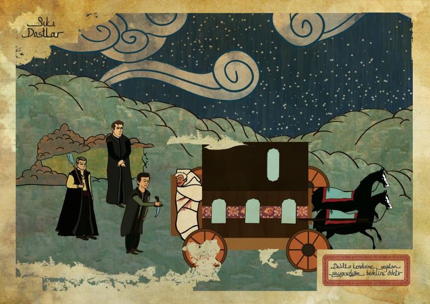 Murat Palta Ottoman art movie poster Goodfellas