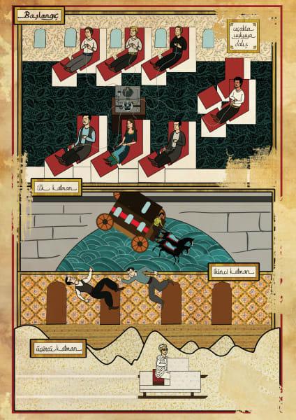 Murat Palta Ottoman art movie poster Inception