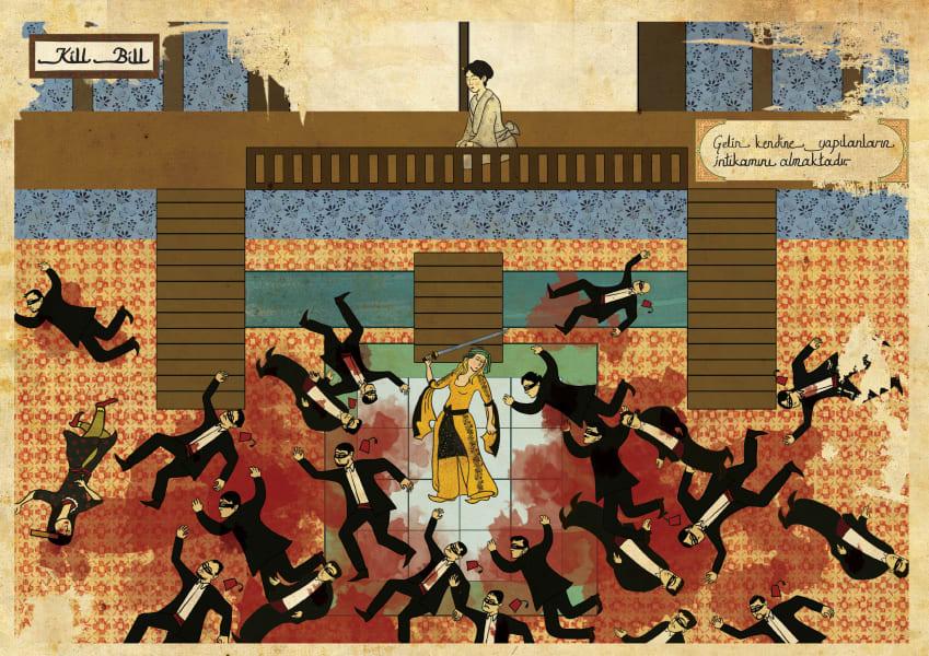 Murat Palta Ottoman art movie poster Kill Bill