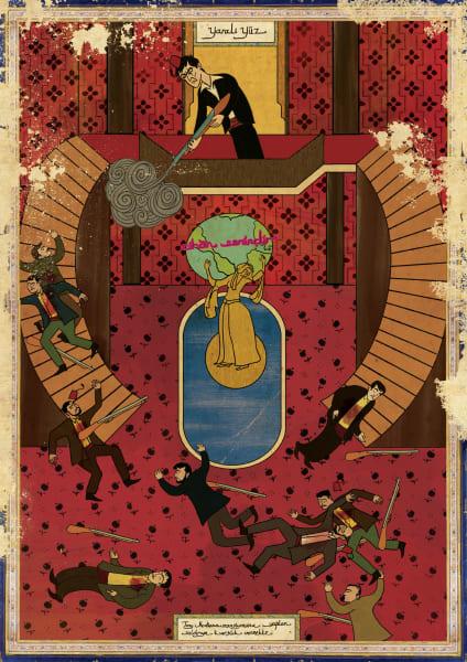 Murat Palta Ottoman art movie poster Scarface