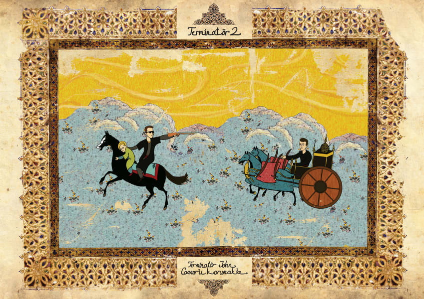Murat Palta Ottoman art movie poster Terminator 2