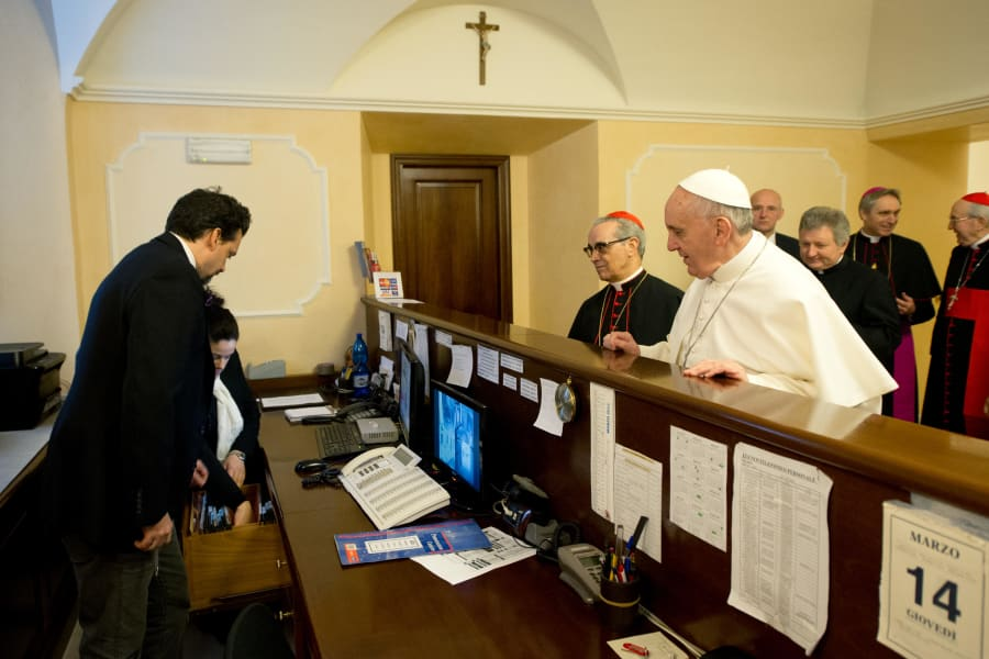 pope francis hotel