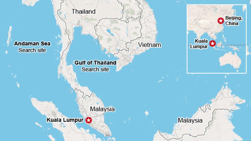 malaysia bejing flight map