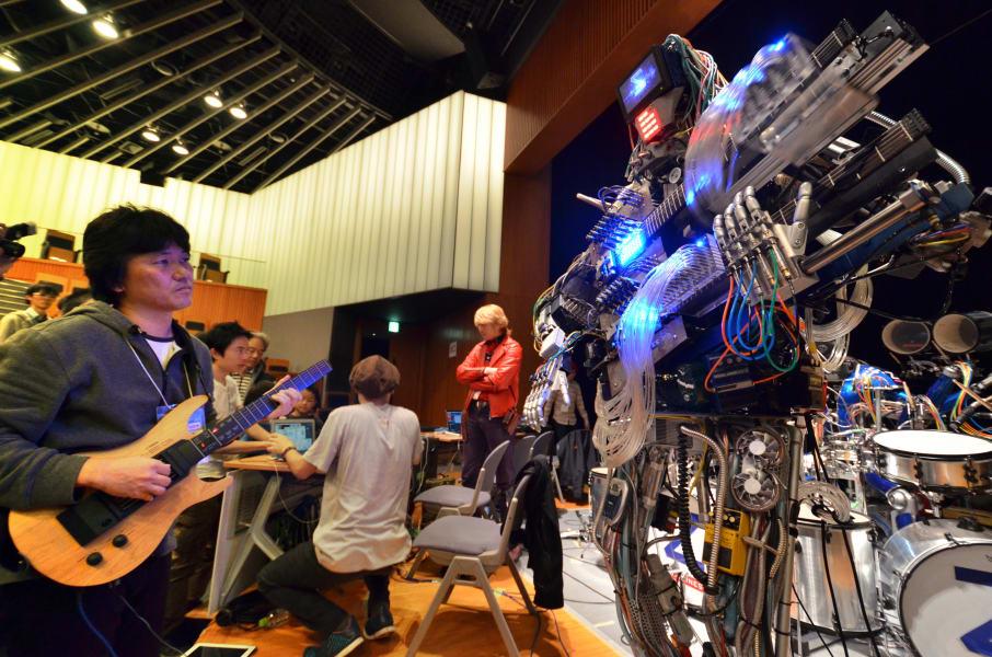 robot band fan