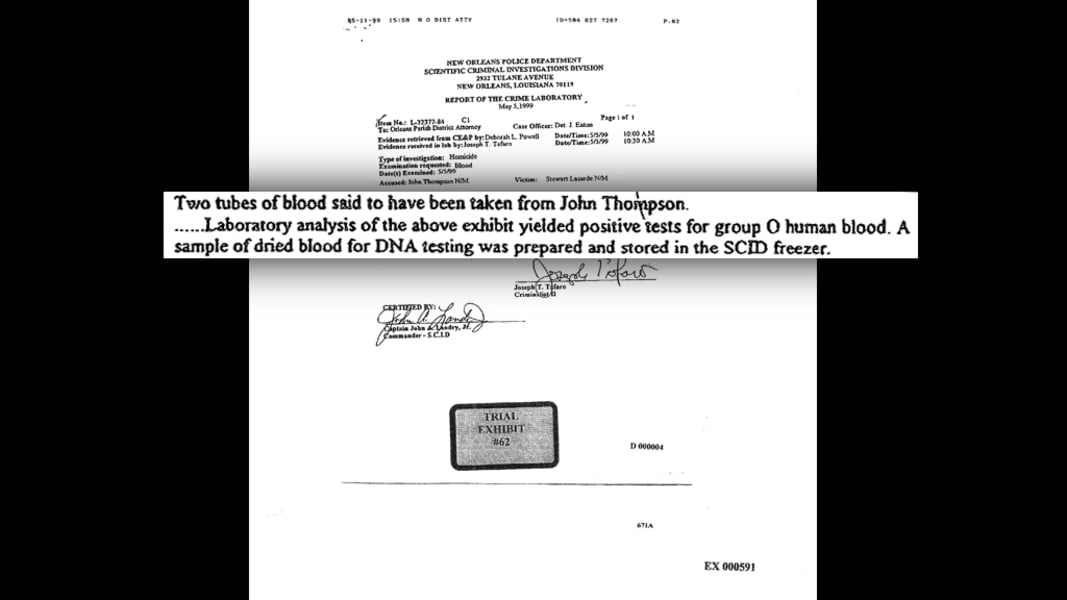 12 death ro stories thompson - blood analysis