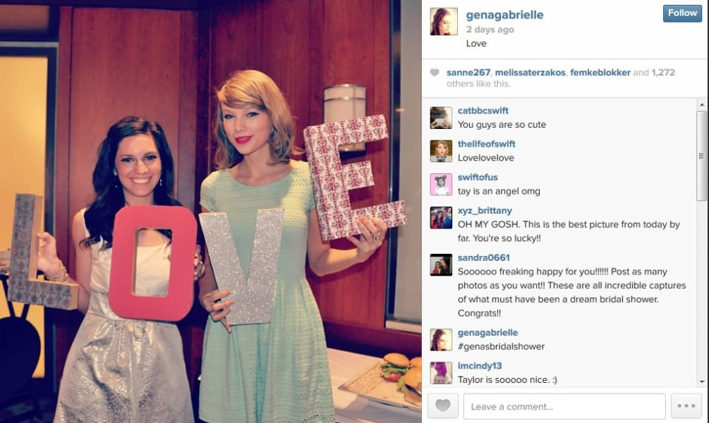 Taylor Swift fan bridal shower