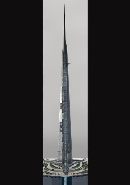 Saudi freedom tower model photo