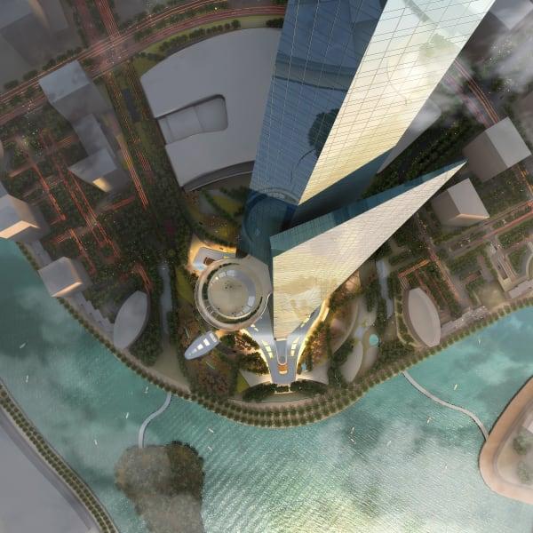 Saudi freedom tower air view