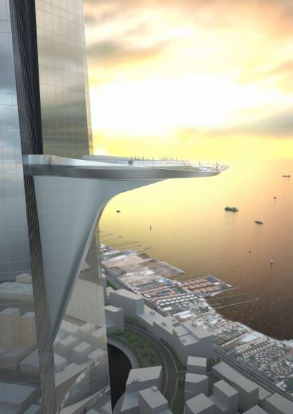 Saudi Freedom tower sky terrace