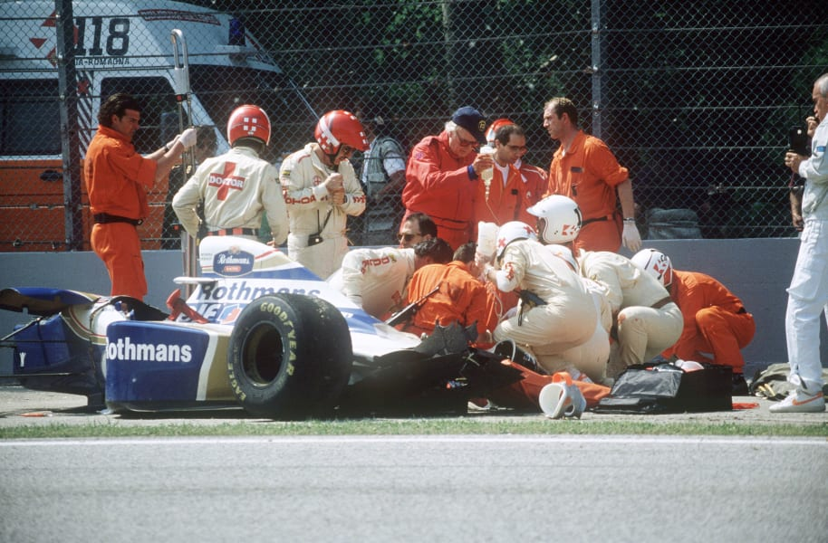 Ayrton Senna crash