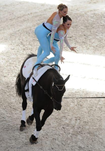 Equestrian vaulting
