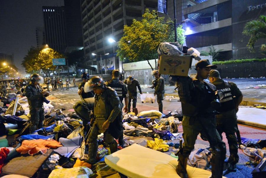 Venezuela protest camps 2
