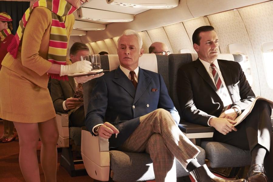 mad men, season 7 Sterling Draper plane
