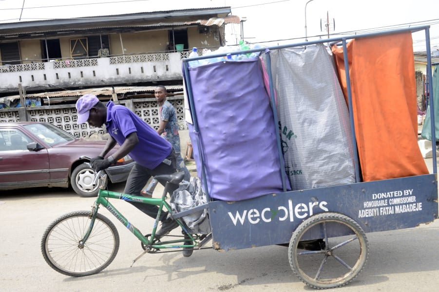 lagos wecyclers tricycle