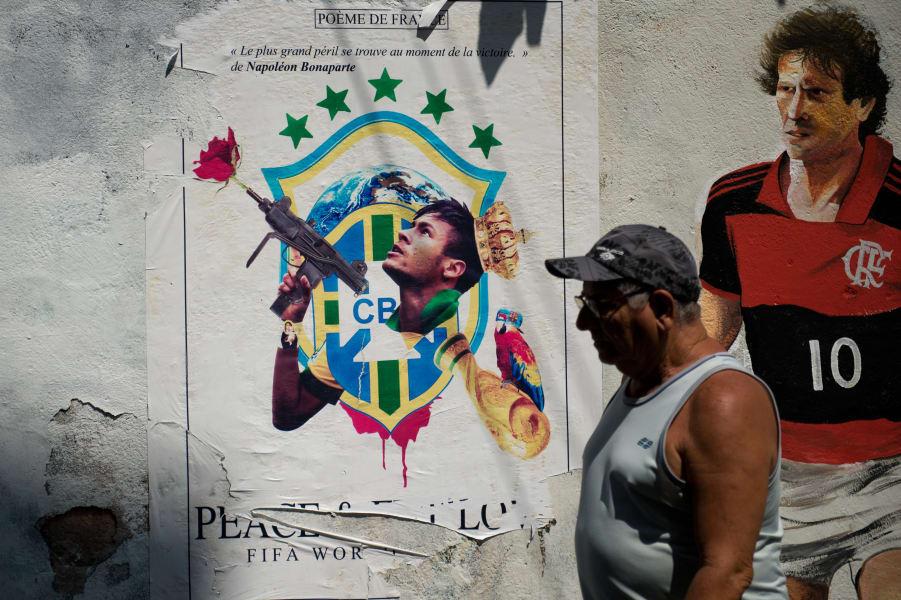 neymar machine gun graffiti