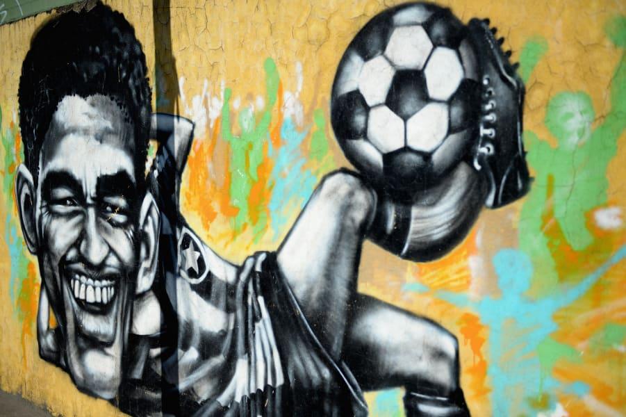 Brazil Graffiti Garrincha
