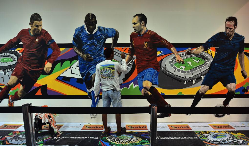 brazil graffiti football airport