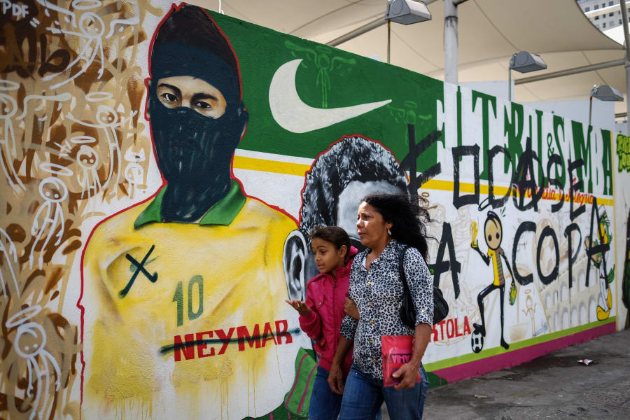 brazil graffiti neymar balaclava