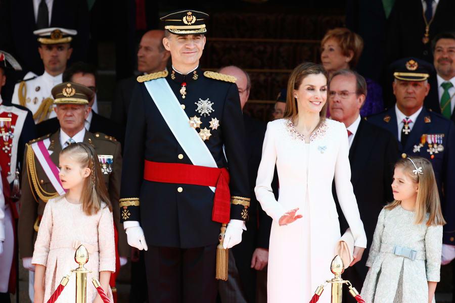 getty spain royal family king felipe vi queen letizia and princesses