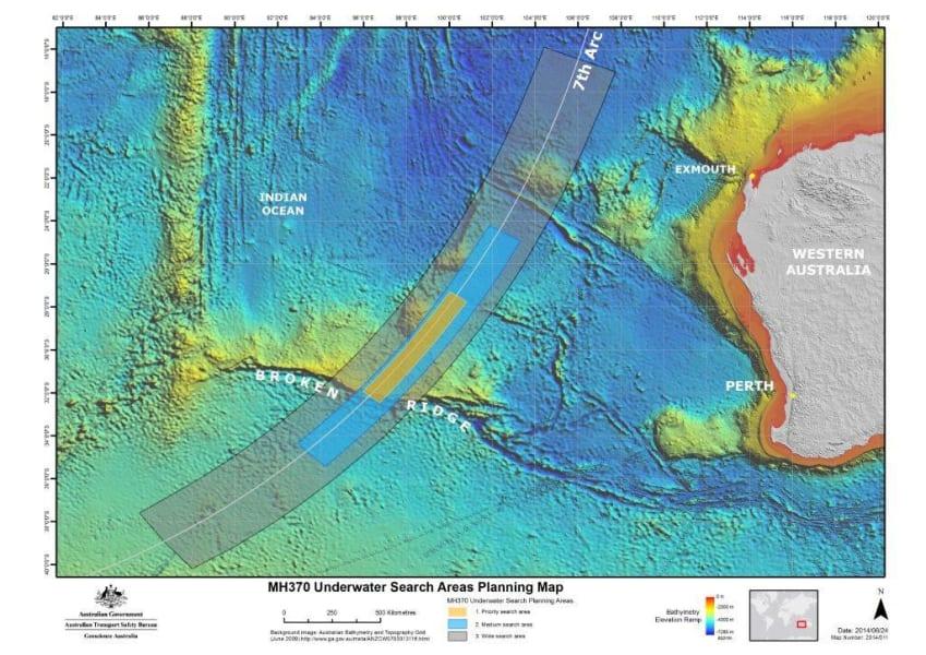 mh370 refined search area