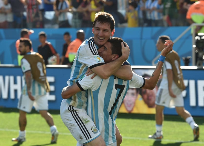 getty wc messi di maria celebrates