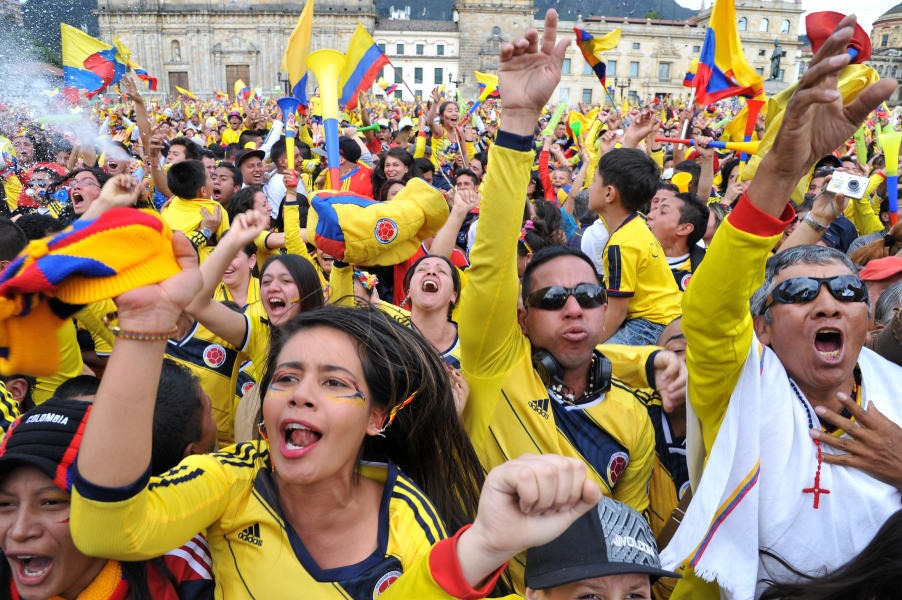Colombia World Cup Fans Bogota