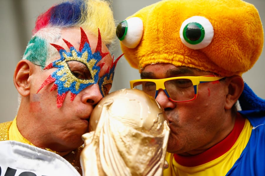 Colombia Fans vs Uruguay