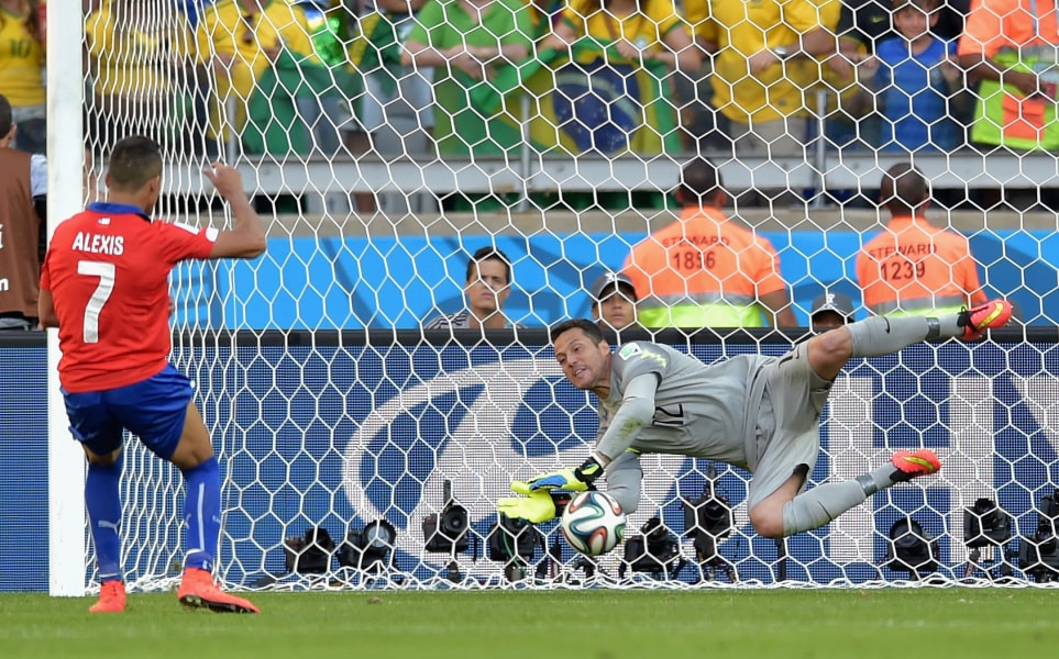 Julio Cesar Penalty Save World Cup