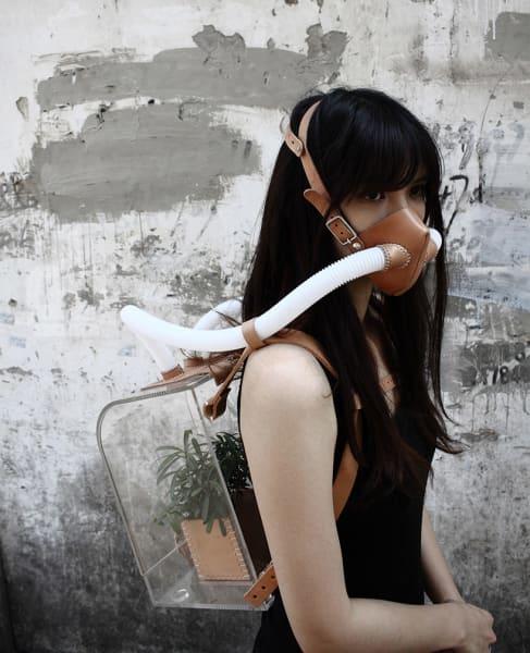 china smog backpack